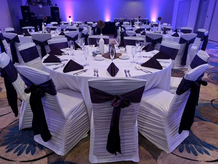 Chair covers linens draping uplighting for wedding reception 9 23 2017 eastland