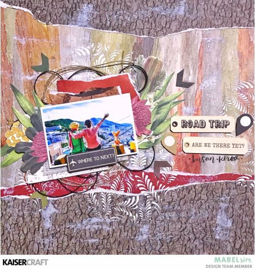'Road Trip' Layout by Mabel Sim - Kaisercraft Official Blog