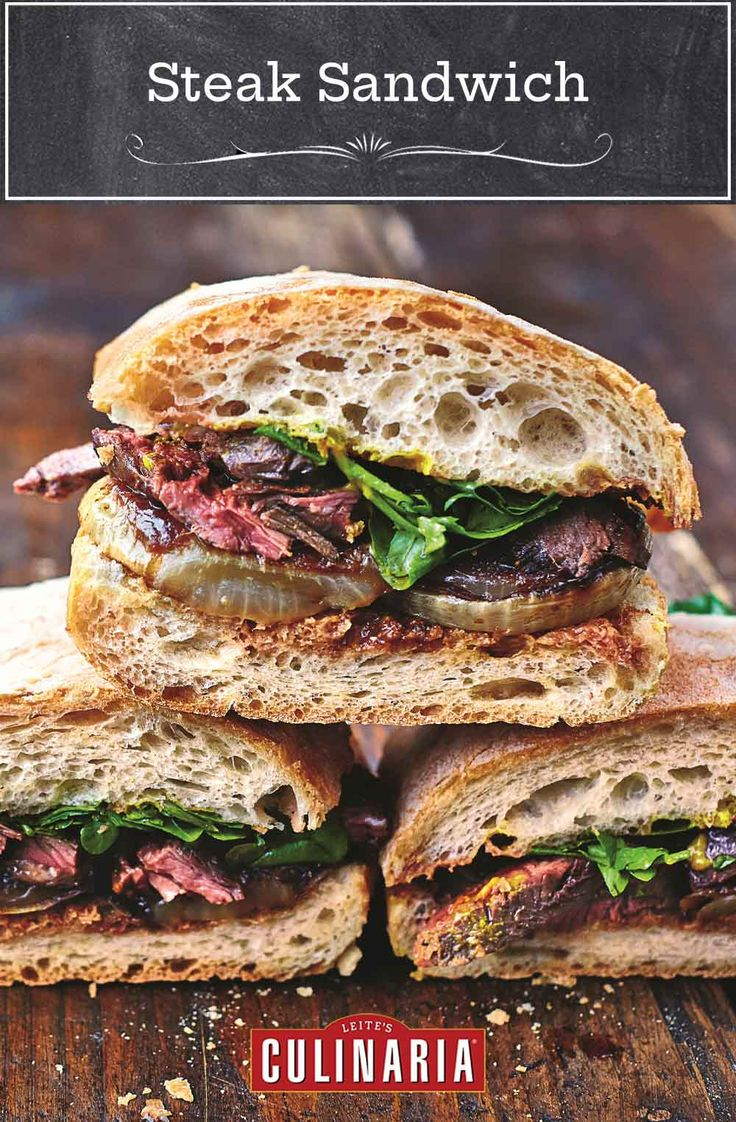 This steak sandwich from Jamie Oliver is made extra ...