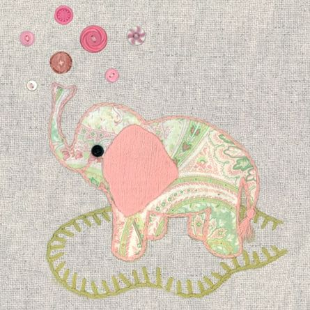 Vintage Elephant in Pink Canvas Reproduction: Elephants, Canvas Walls, Pink Canvas, Stuff, Canvas Wall Art, Baby Girls, Baby Room, Vintage Elephant, Canvases