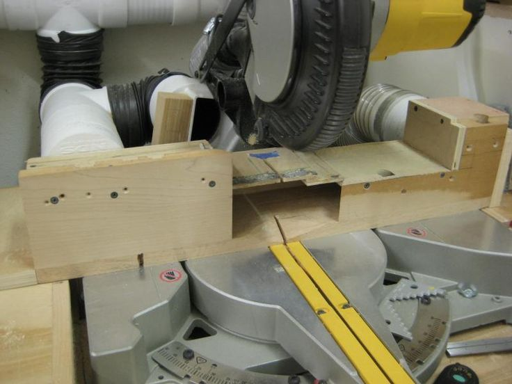Compound mitre saw dust collection idea
