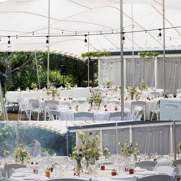 Love this simple but elegant setup under our 13 X 16 Stretch Tent in Opoutere . A great house for hire transformed into a gorgeous wedding venue #weddings #the coromandel #stretchtentsbop #events #goodforyoursoul #stretchtentsnz #stretchtents