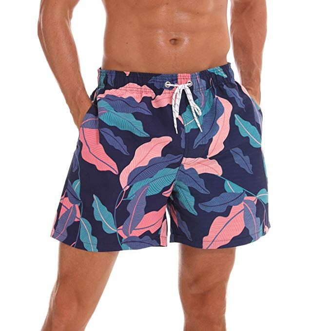 Mens Mesh Lined Shorts Swimming Holiday Beach Trunks Summer Beach Gym Bottoms 1S
