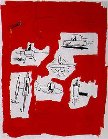 Ufos by Jean-Michel Basquiat, 1984 Acrylic on Paper