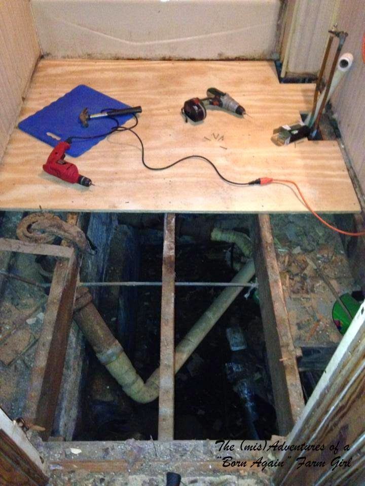 Bathroom Subfloor Kemistorbitalshowco - Cost to replace bathroom floor
