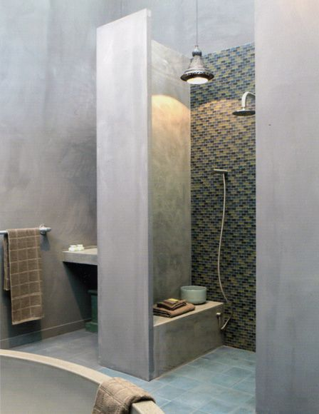 ♥Concrete Shower barefootstyling.com