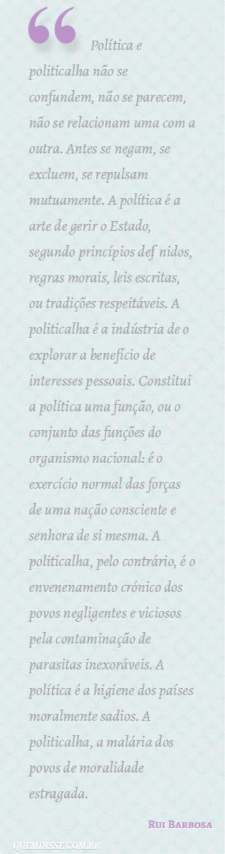 Frase de Rui Barbosa