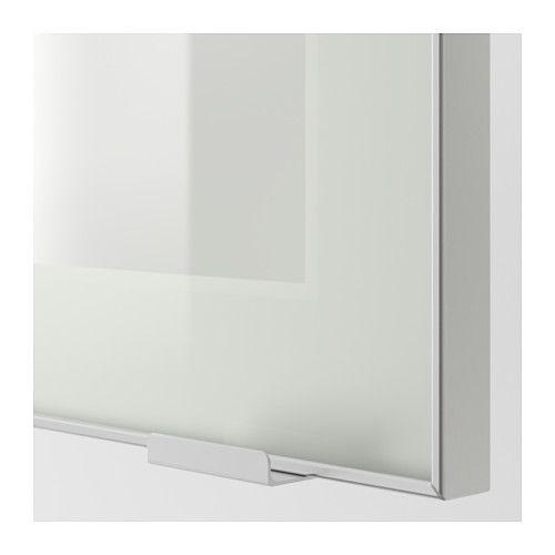 JUTIS Anta a vetro - vetro smerigliato/alluminio, 40x100 cm - IKEA