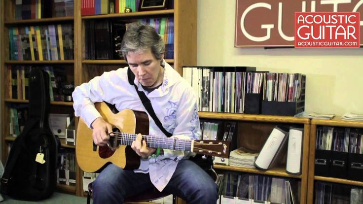 "Pete Huttlinger performs ""McGuire's Landing"" at the Acoustic Guitar Office. Beaaaautiful! :3"