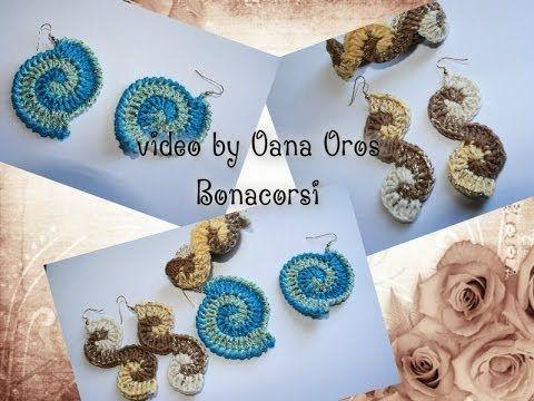 orecchini & braccialetto spirale - YouTube