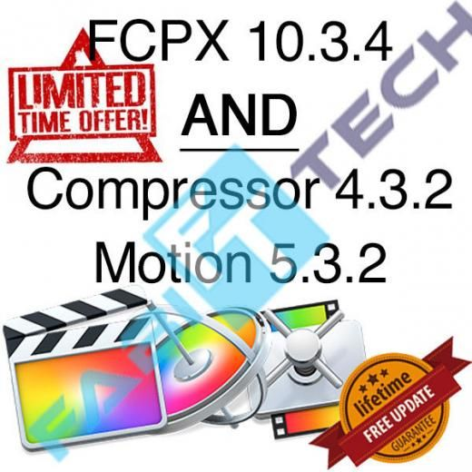 Apple Final Cut Pro X 10.3.4 + Extras - Lifetime Updates Genuine From None 4.15gb Mac Os 10.11 El Capitan Download Standard Video Editing English 4gb