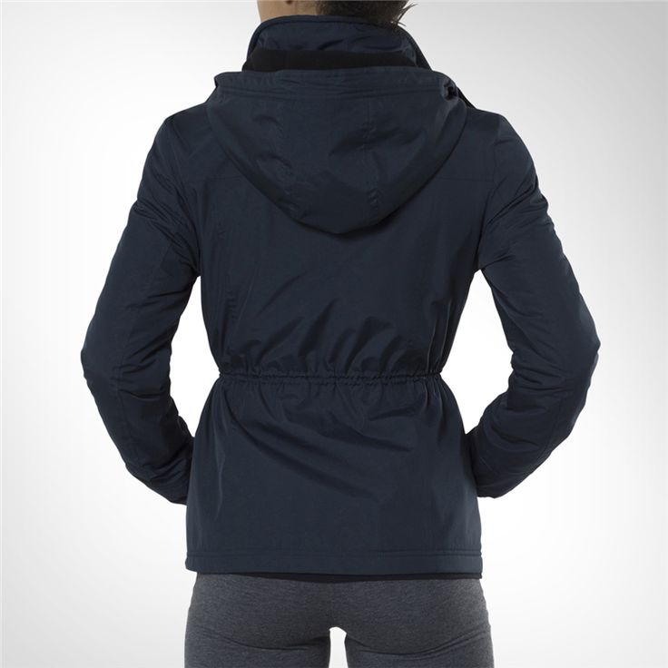 Women's Totalsports Navy Hooded Parker Jacket