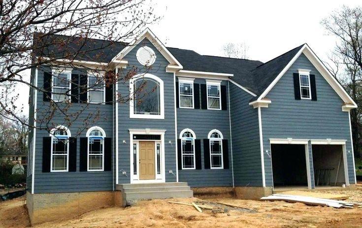Blue Gray House Slate Blue House Blue House White Trim