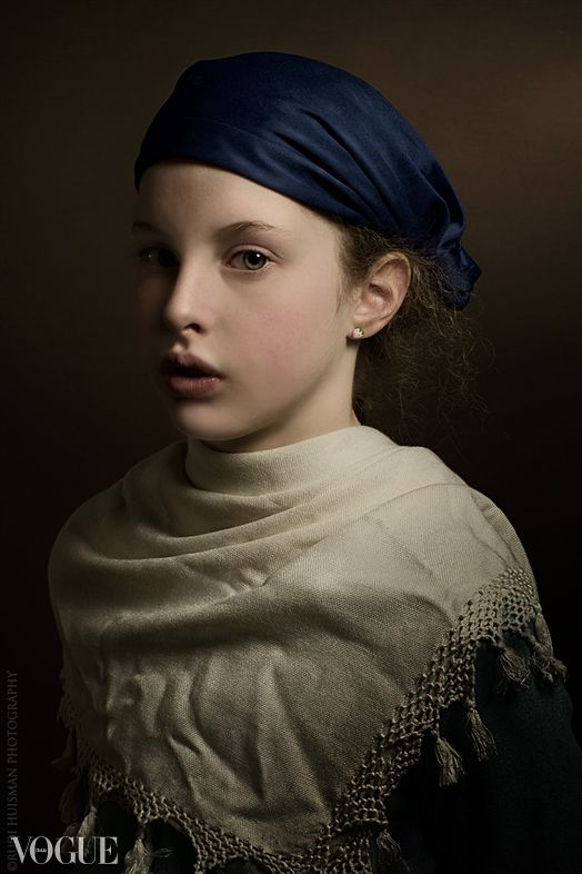 Girl with a blue hat. Rudi Huisman