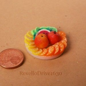 Fruit plate out of polymer clay