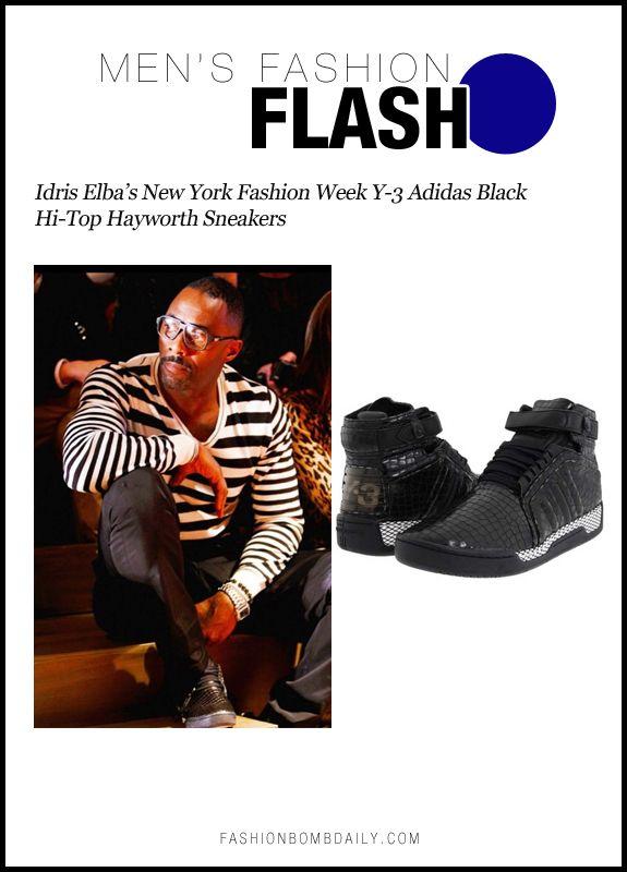 Y-3 Adidas Black Hi-Top Hayworth Sneakers