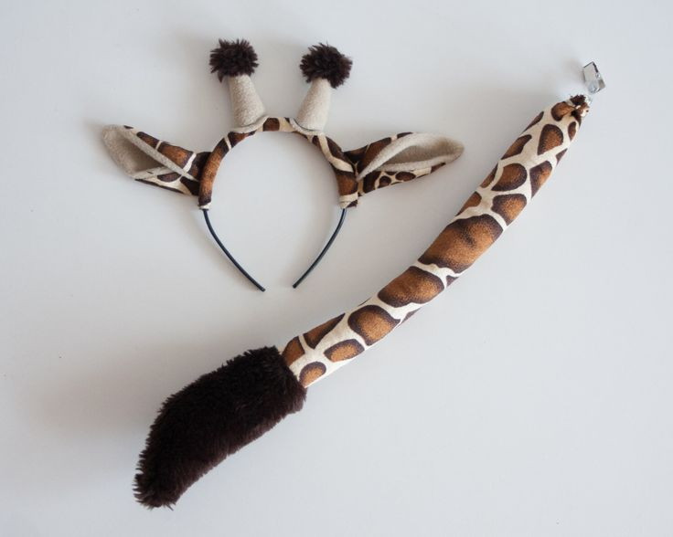 Giraffe Ears Headband and Giraffe Tail Set, Soft Animal Tail, Dress Up, Giraffe Costume by oKidz on Etsy https://www.etsy.com/listing/274732760/giraffe-ears-headband-and-giraffe-tail