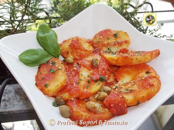 Patate alla pizzaiola in padella ricetta facile  Blog Profumi Sapori & Fantasia