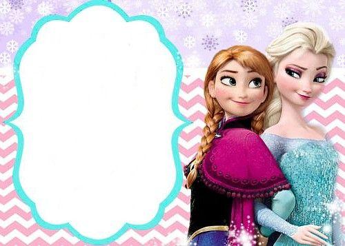invitation reine des neiges gratuite à imprimer