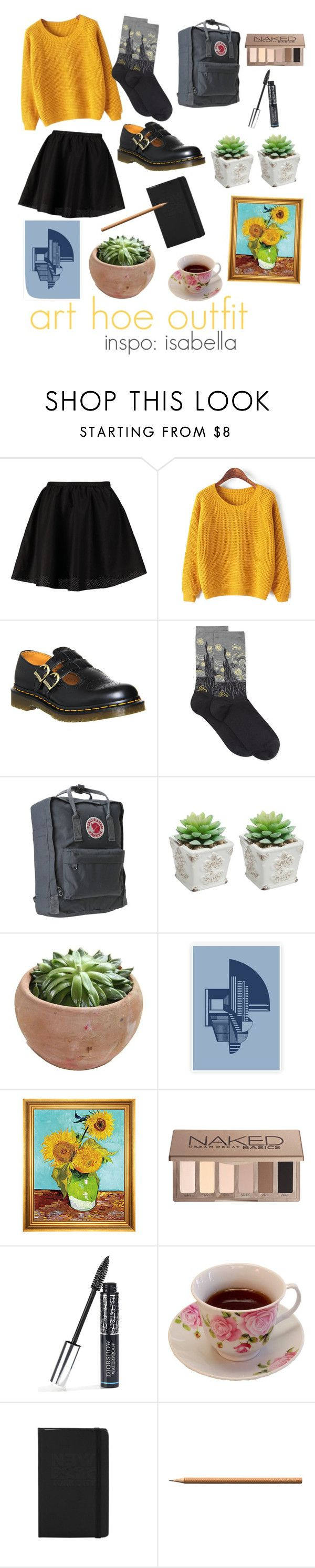 """""""art hoe outfit"""" by arrctiic ❤ liked on Polyvore featuring ONLY, Dr. Martens, HOT SOX, Fjällräven, Munn Works, Urban Decay, Christian Dior, Faber-Castell, women's clothing and women"""