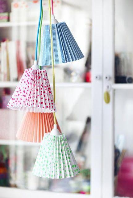 Island of white: Lampes en papier : vive l'origami !