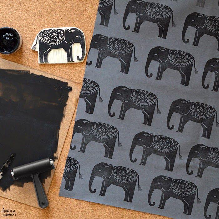 Printing on Textiles by Andrea Lauren http://www.inkprintrepeat.com/