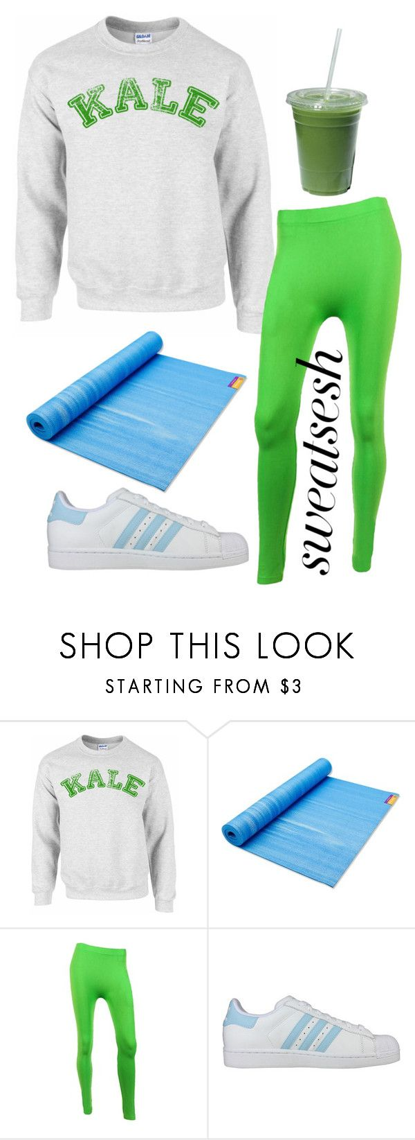 """""""Sweat Sesh: Gym Style"""" by ohlizzy ❤ liked on Polyvore featuring Hugger Mugger, Sofra, adidas and sweatsesh"""