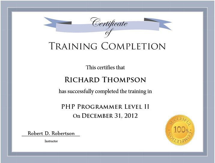 10 Training Certificate Templates Word Excel Pdf Templates Training Certificate Certificate Templates Certificate Of Completion