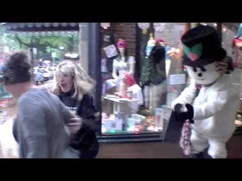 Snowman Comes Alive Prank Video
