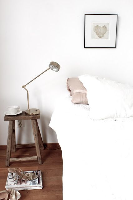 find this pin and more on estilo escandinavo scandinavian stool as bedside table - Chair As Bedside Table