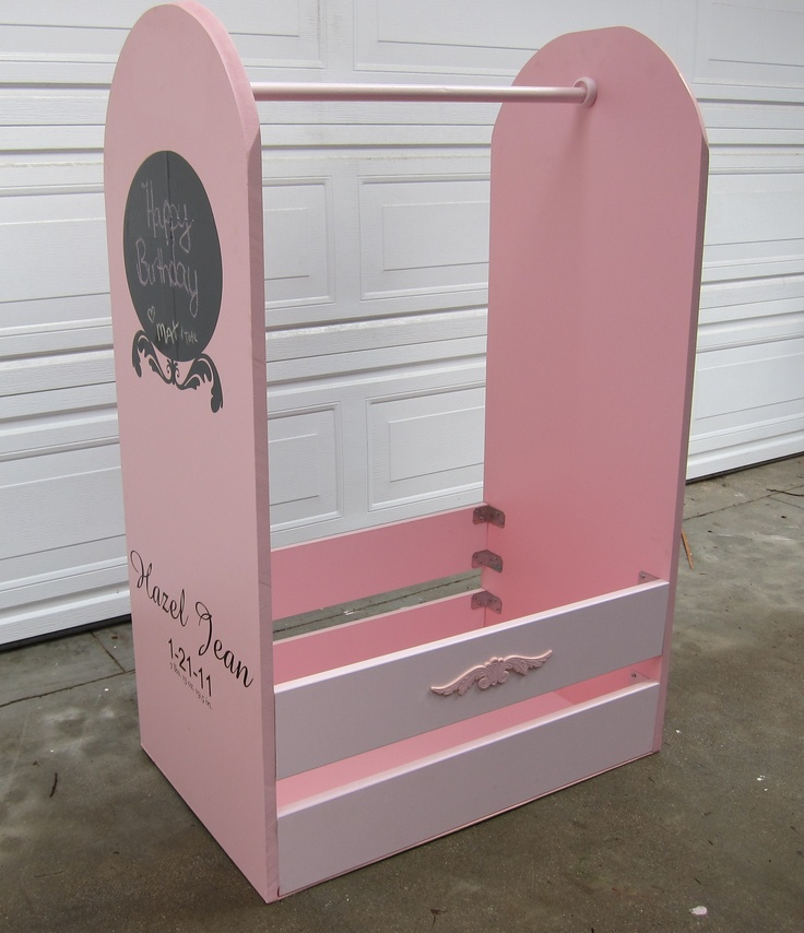 Dress up Station we built as a gift for a friends daughter.