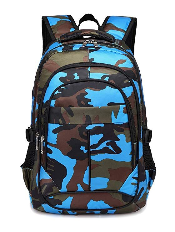 344314a8e88 BLUEFAIRY Kids Backpacks For Boys Primary School Bags for Girls Camouflage  Print Bookbag (Camo Blue)   back to school supplies   Pinterest   Backpacks  and ...