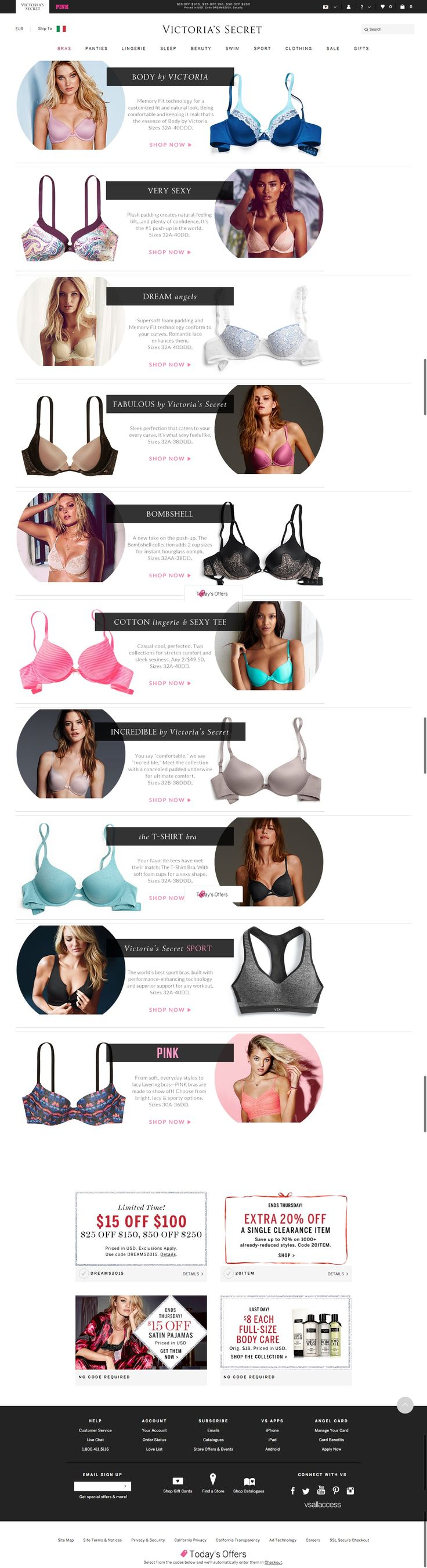 #shoppingGuide VS - The Angel Bra Guide - Compare Our Collection