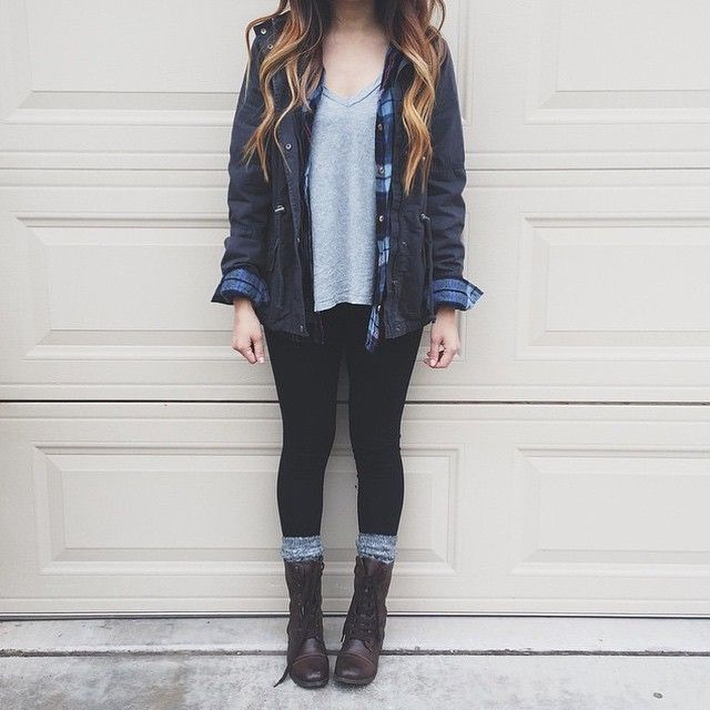 1000  images about Combat Boots Outfits on Pinterest | Plaid ...