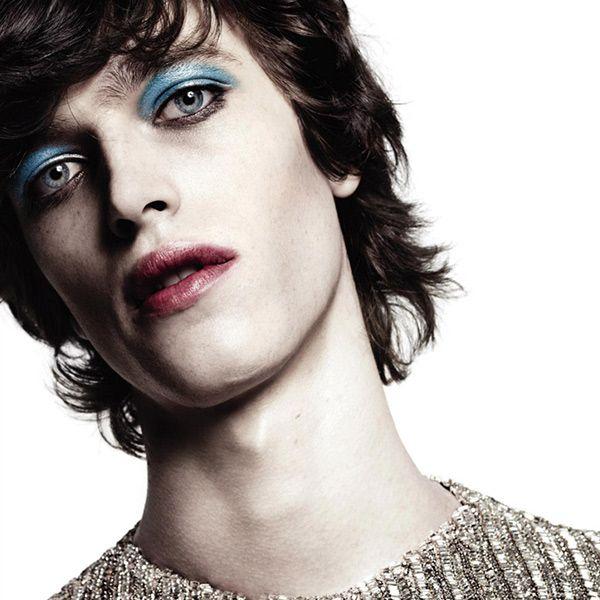 Glam Rock Makeup Men Androgynous makeup face pinterest androgynous ...