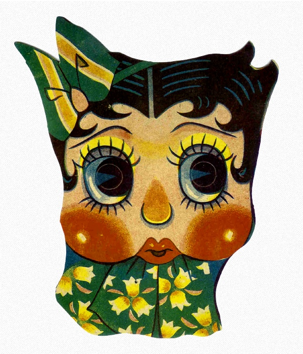 Betty Boop Paper Face Mask: Japan, 1940s