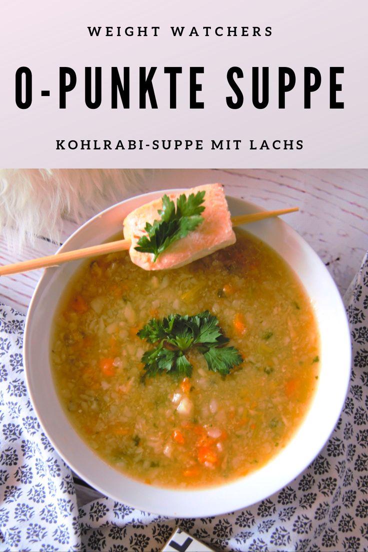 0-Punkte Suppe Weight Watchers – Kohlrabi-Suppe mit Lachs