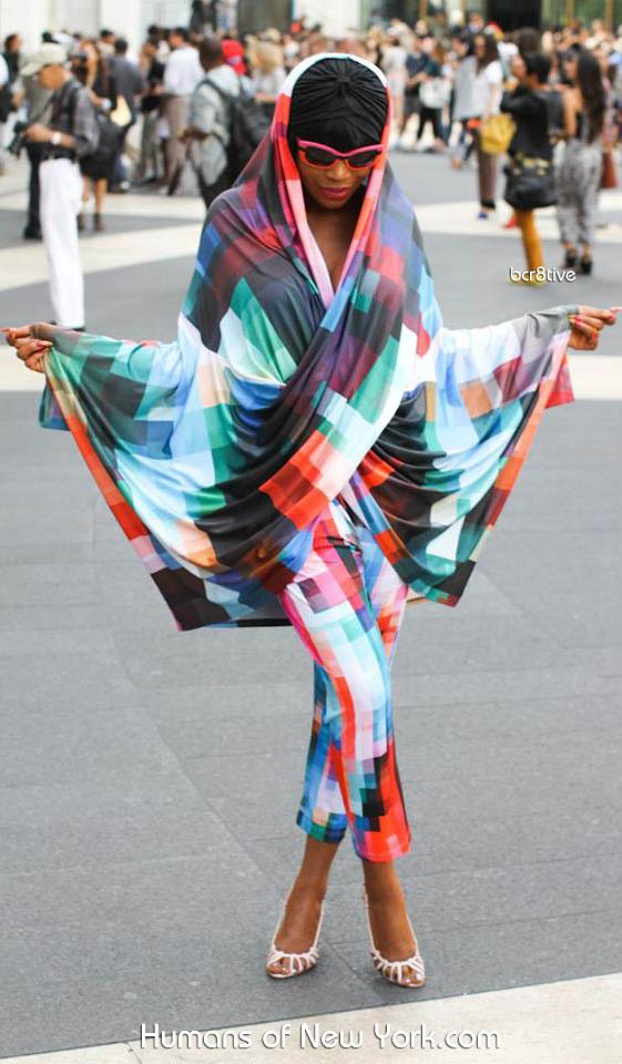 Great photo (& outfit) by Brandon of Humans of New York seen at Lincoln Center, during New York Fashion Week http://www.humansofnewyork.com/