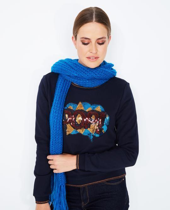 nachtblauwe-statement-sweater-youh