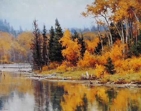 Clyde Aspevig - Pond in Autumn