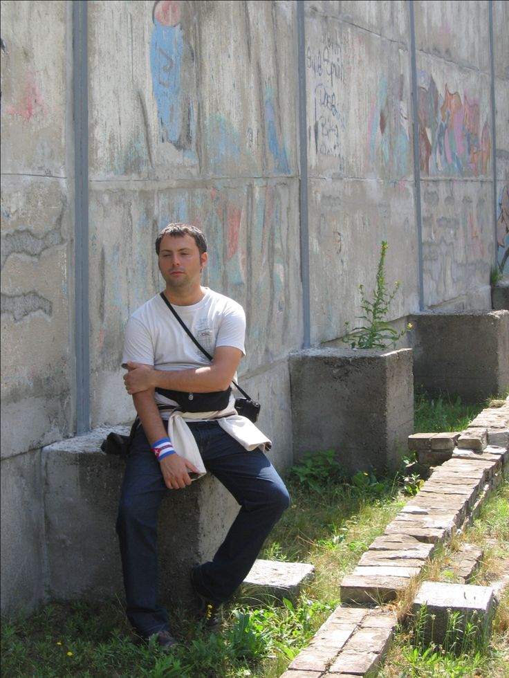 Alessandro Fenech in Berlin / The wall (ex!).