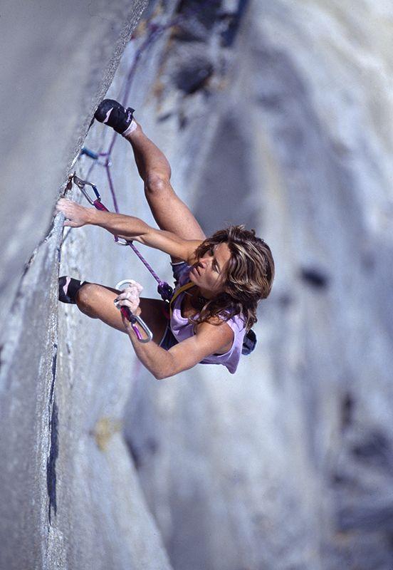 Lyne Hill, great rock climber