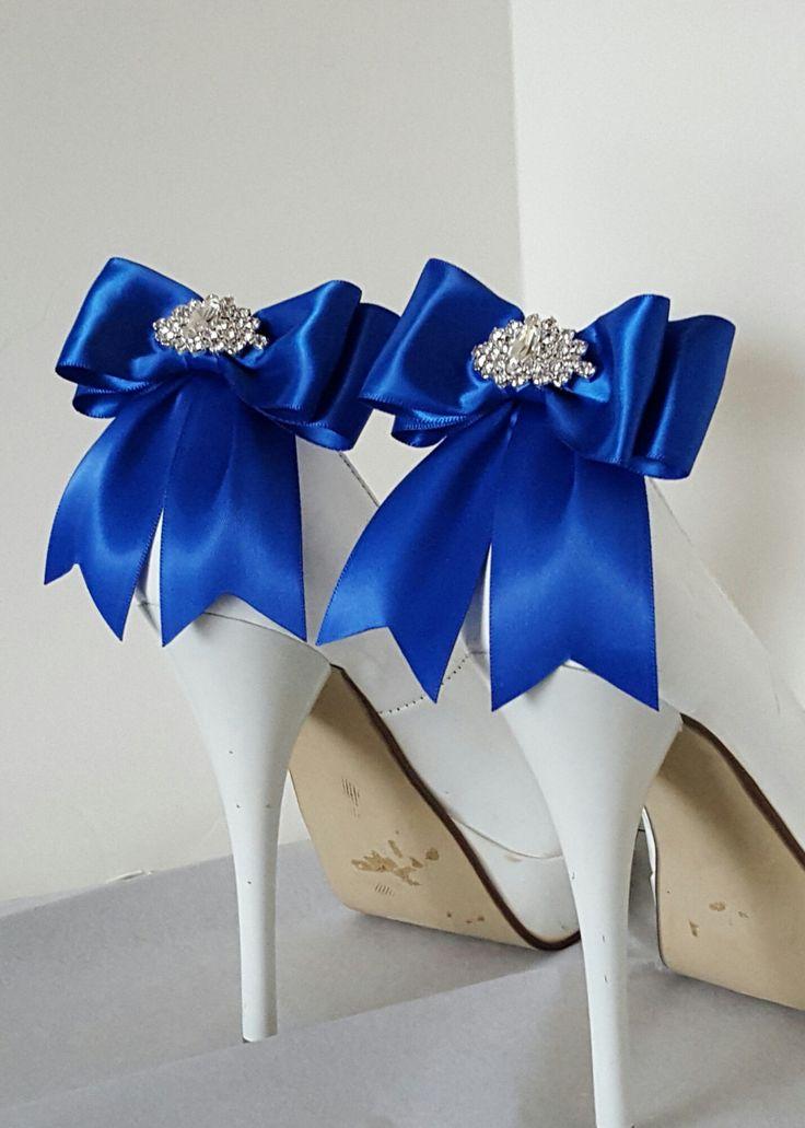Blue Shoe Clips Wedding