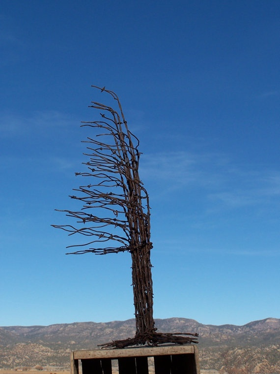 Christmas Tree Made From Recycled Barbed Wire ( Large ...