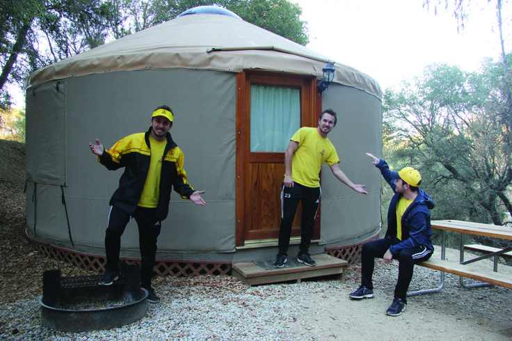 Stay in a Yurt (a modern take on traditional Mongolian huts)  These round rooms will accommodate 8 people comfortably.
