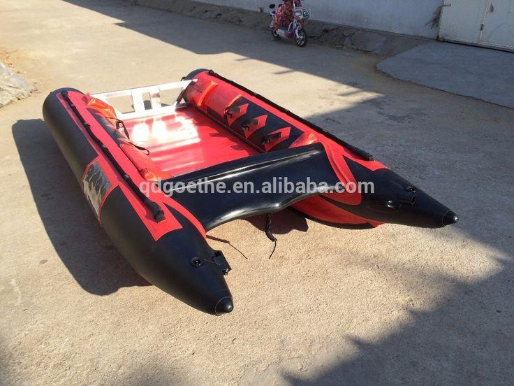 GTG410 Stainless steel and aluminum floor catamaran fishing boat