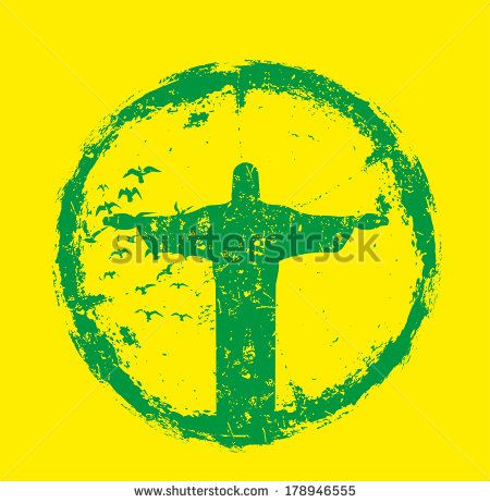 rio brazil retro style vector art