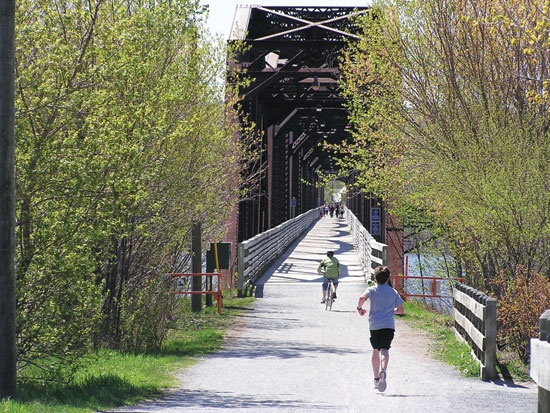 Bill Thorpe Walking Bridge, Fredericton NB
