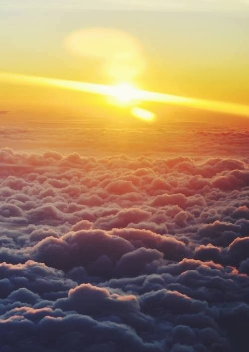 sky. clouds. sun.