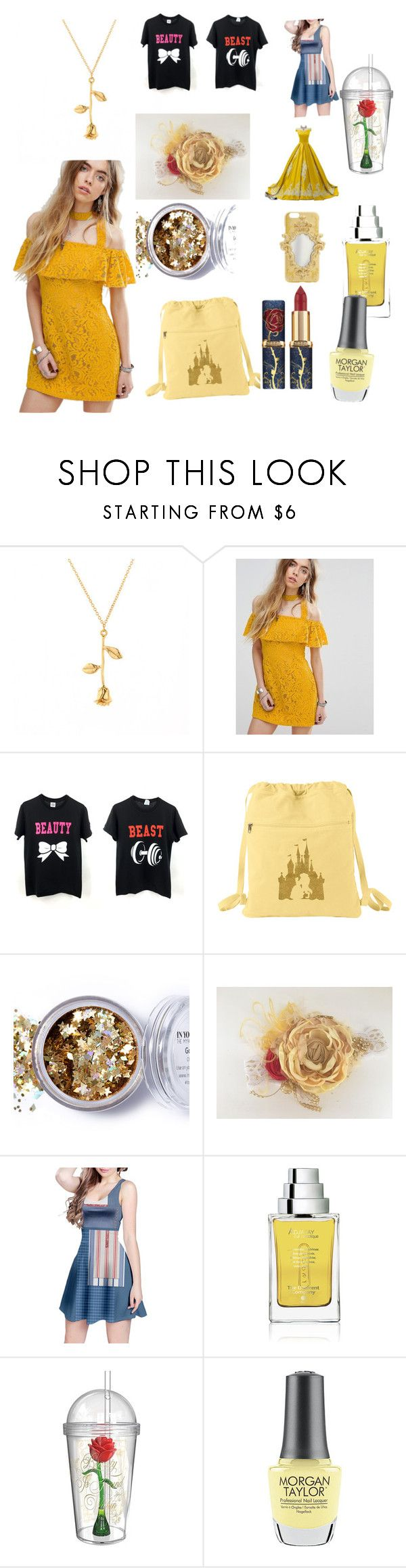 """""""Beauty and the beast"""" by hzmwilcox ❤ liked on Polyvore featuring MINKPINK, In Your Dreams, L'Oréal Paris, The Different Company, Zak! Designs and Morgan Taylor"""